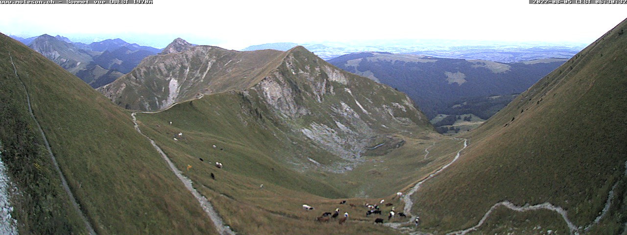 Webcam at the top of Moléson 2002 m.